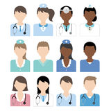 Doctor nurse icon. Vector file of doctor and nurse icons Vector Illustration