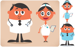 Doctor and Nurse Royalty Free Stock Images
