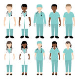 Doctor and nurse illustration. Doctor and nurse in their uniform illustration Stock Illustration