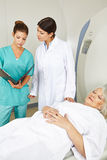 Doctor and nurse at MRI Stock Photo