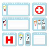 Doctor and nurse note paper Royalty Free Stock Images
