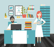 Doctor and nurse office workplace. Royalty Free Stock Images