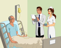 Doctor, nurse and patient Royalty Free Stock Photo