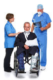 Doctor Nurse and patient isolated Royalty Free Stock Photography