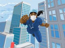 Free Doctor Nurse Scrubs Superhero Flying Super Hero Royalty Free Stock Photos - 213516108