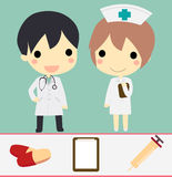 Doctor and nurse set Royalty Free Stock Photo