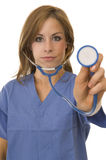 Doctor/Nurse with stethoscope Royalty Free Stock Photo