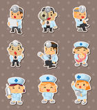 Doctor and nurse stickers Stock Images