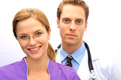 Doctor Nurse Team Stock Images
