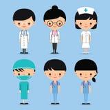 Doctor & Nurse Team Characters. Doctor & Nurse. Hospital Medical Team Characters Stock Image