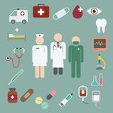 Doctor and nurse team with medical icon Royalty Free Stock Image