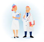 Doctor and nurse vector illustration Royalty Free Stock Photo