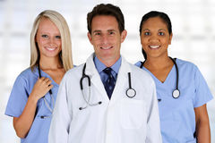 Doctor and Nurses. Group of doctors and nurses set in a hospital Stock Photo
