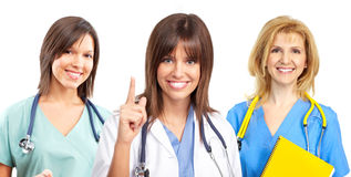 Doctor and nurses Royalty Free Stock Images