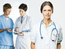Doctor and Nurses at office Royalty Free Stock Photography