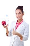 Doctor Nutritionist Woman Happy Smiling Stock Image