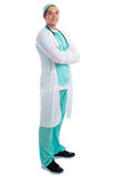 Doctor occupation job smiling standing full body portrait isolat Royalty Free Stock Photo