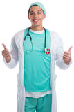 Doctor occupation job thumbs up isolated Royalty Free Stock Photos