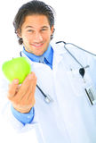 Doctor Offering Healthy Food Stock Photos