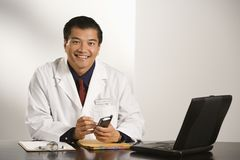 Doctor in office. Royalty Free Stock Photo
