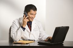 Doctor in office. Royalty Free Stock Photography