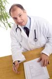 Doctor at the office Royalty Free Stock Photography