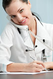 Doctor at office Royalty Free Stock Image
