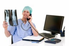 Doctor in office, admin work Royalty Free Stock Image