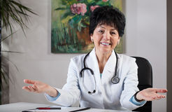 Doctor in office Stock Photography
