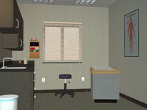 Doctor Office, Medical Exam Room Illustration. Illustration of a doctor office or exam room. The healthcare facility is where people get an examination from a Royalty Free Stock Images