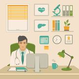 Doctor in office. medical worker in cabinet Royalty Free Stock Image