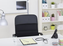Doctor office table desk and black Stock Images
