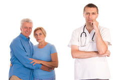 doctor with old patients Royalty Free Stock Images