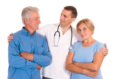 doctor with old patients Royalty Free Stock Photography
