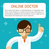 Doctor online vector illustration Stock Images