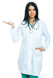 Doctor with an open hand Royalty Free Stock Photos