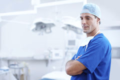 Doctor in operating room Stock Images