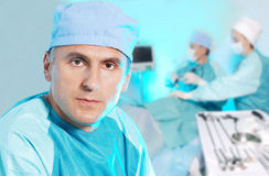 Doctor in operation room Stock Images