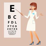 The doctor ophthalmologist examines your eyes Stock Photo