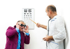 Doctor and patient funny Stock Photography