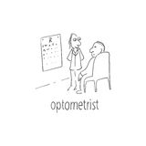 Doctor ophthalmologist testing the patient's vision Stock Images