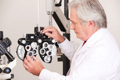 Doctor in Ophthalmology Clinic Royalty Free Stock Photos
