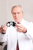Doctor in Ophthalmology Clinic Royalty Free Stock Image