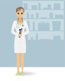 Doctor otolaryngologist. Beautiful doctor. Vector illustration stock illustration