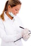 doctor pad side view writing Στοκ εικόνες με δικαίωμα ελεύθερης χρήσης