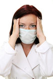 Doctor in panic. Over white Royalty Free Stock Images