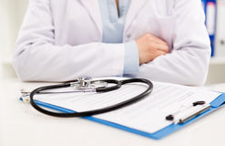 Doctor paperwork Stock Photo