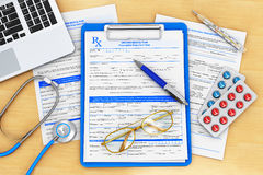 Doctor paperwork Royalty Free Stock Photography