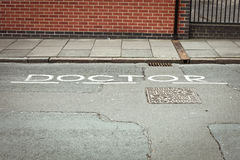 Doctor parking space Stock Photos
