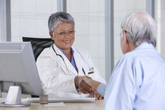Doctor and patient stock photography